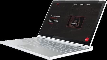Laptop met website gemaakt door TRONIC solutions